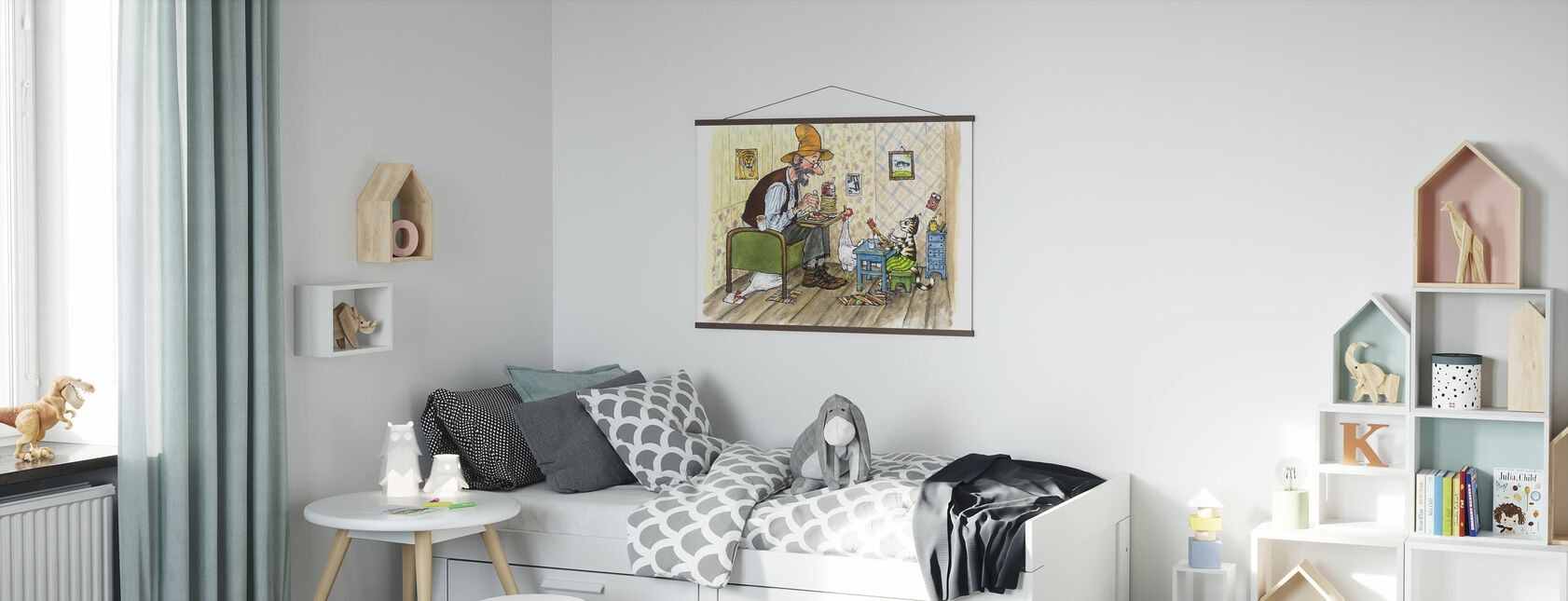 Pettson and Findus - Findus moving out - Poster - Kids Room