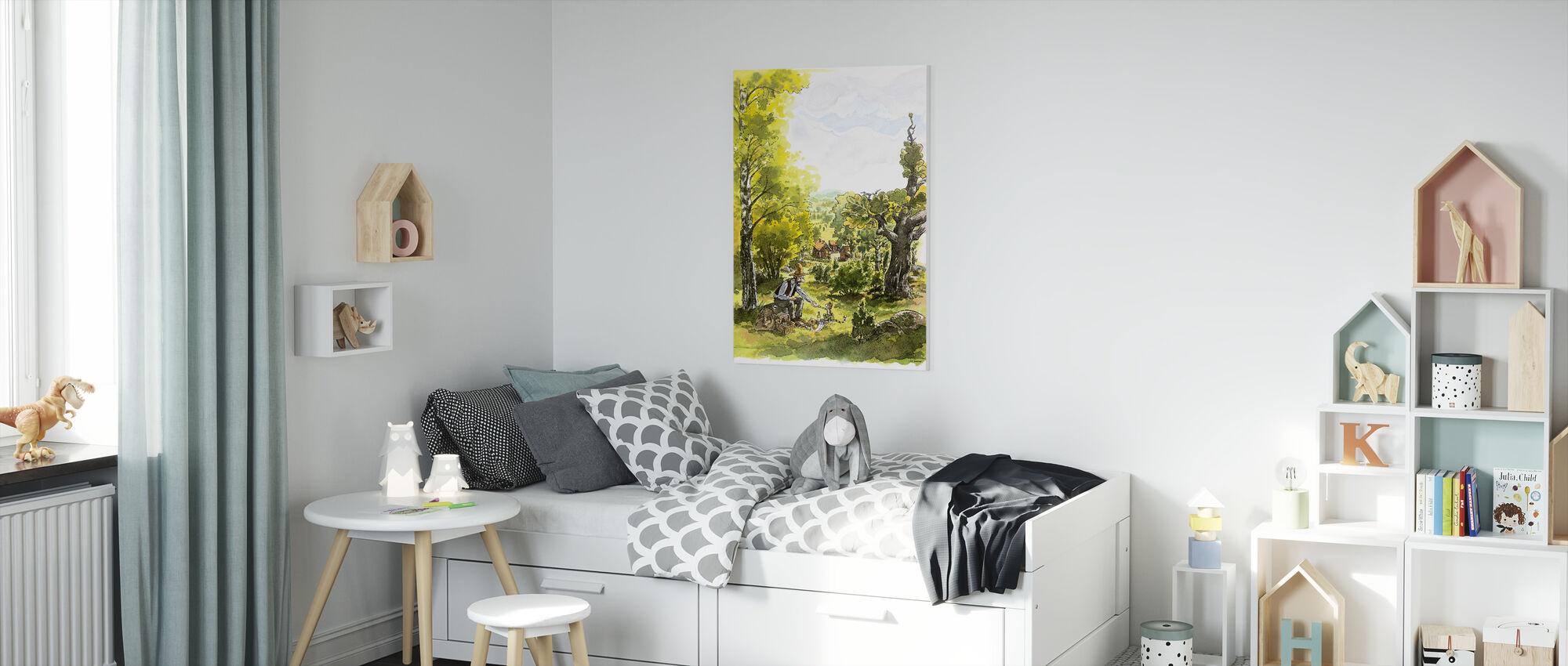 Pettson and Findus -Pettson tents - Picnic - Canvas print - Kids Room