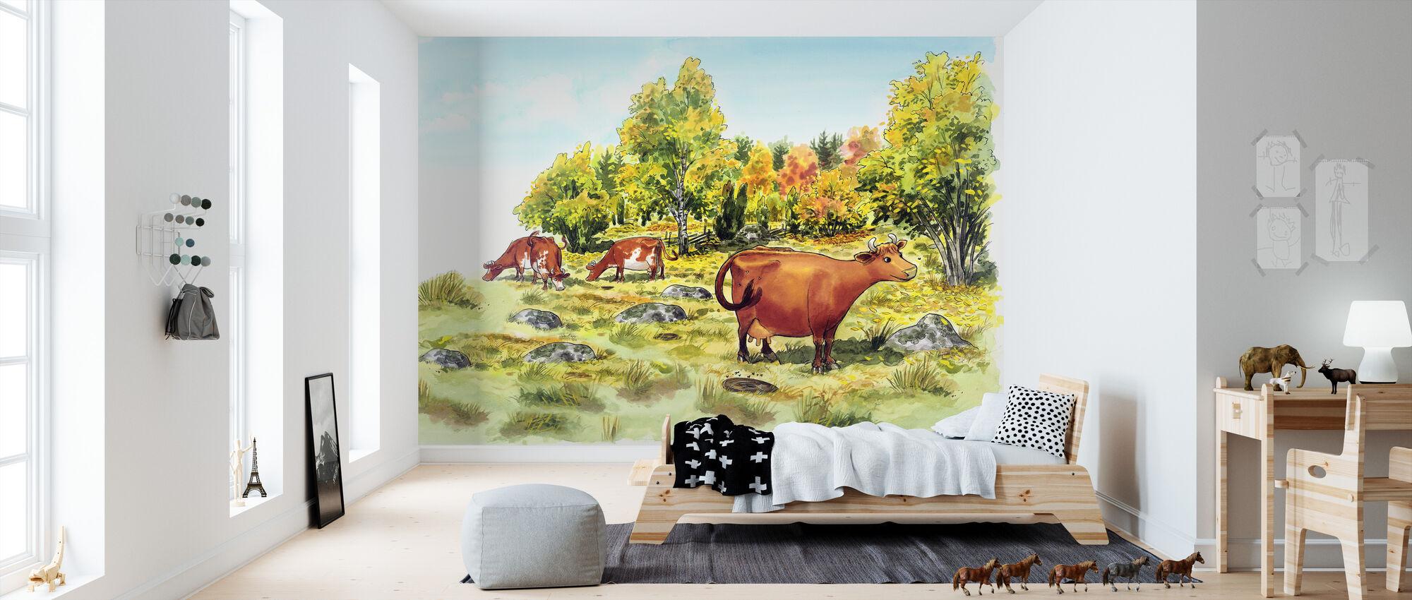 Mom Mu & Crow -Mom Mu - Wallpaper - Kids Room