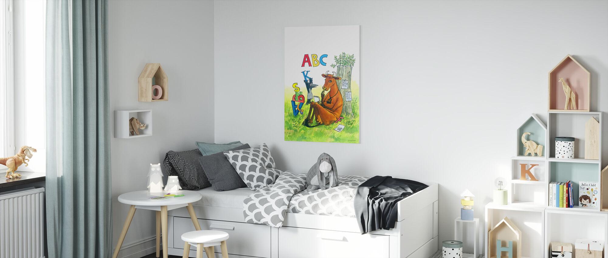 Äiti Mu & Varis - Äiti Mu ABC - Canvastaulu - Lastenhuone