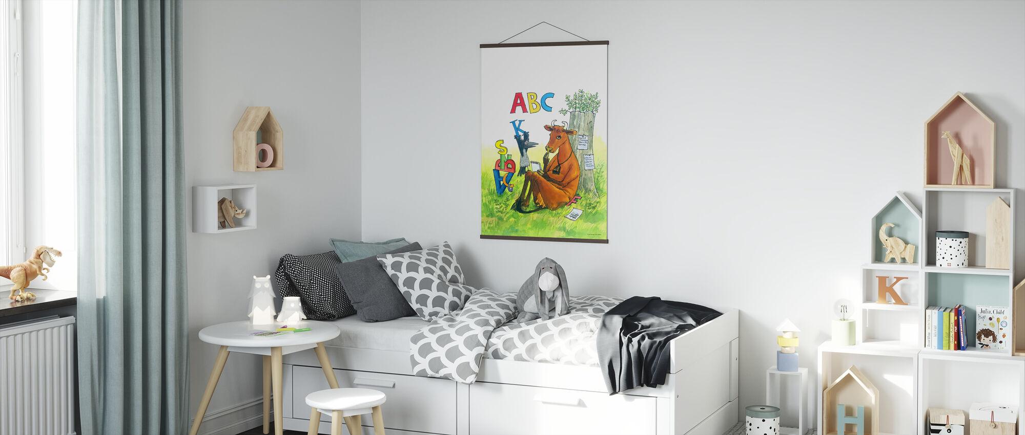 Mom Mu & Crow - Mom Mu ABC - Poster - Kids Room