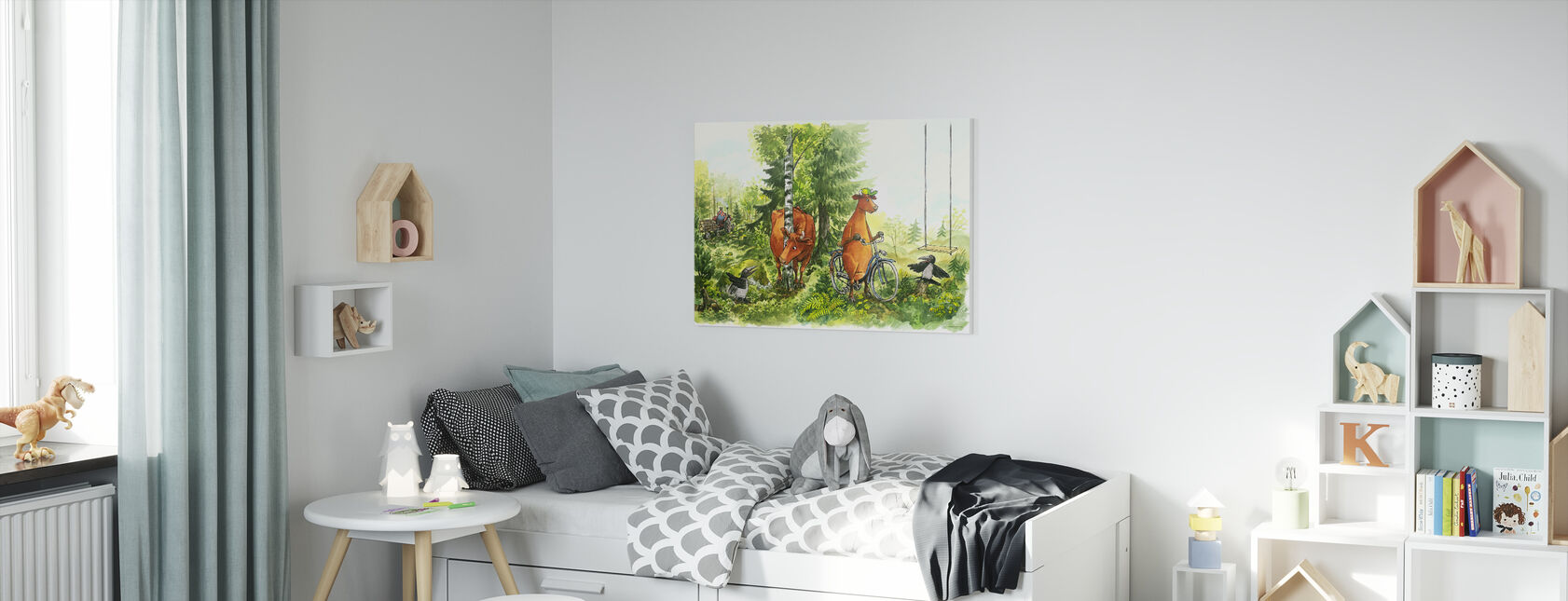 Mom Mu & Crow - What knows a cow - Canvas print - Kids Room