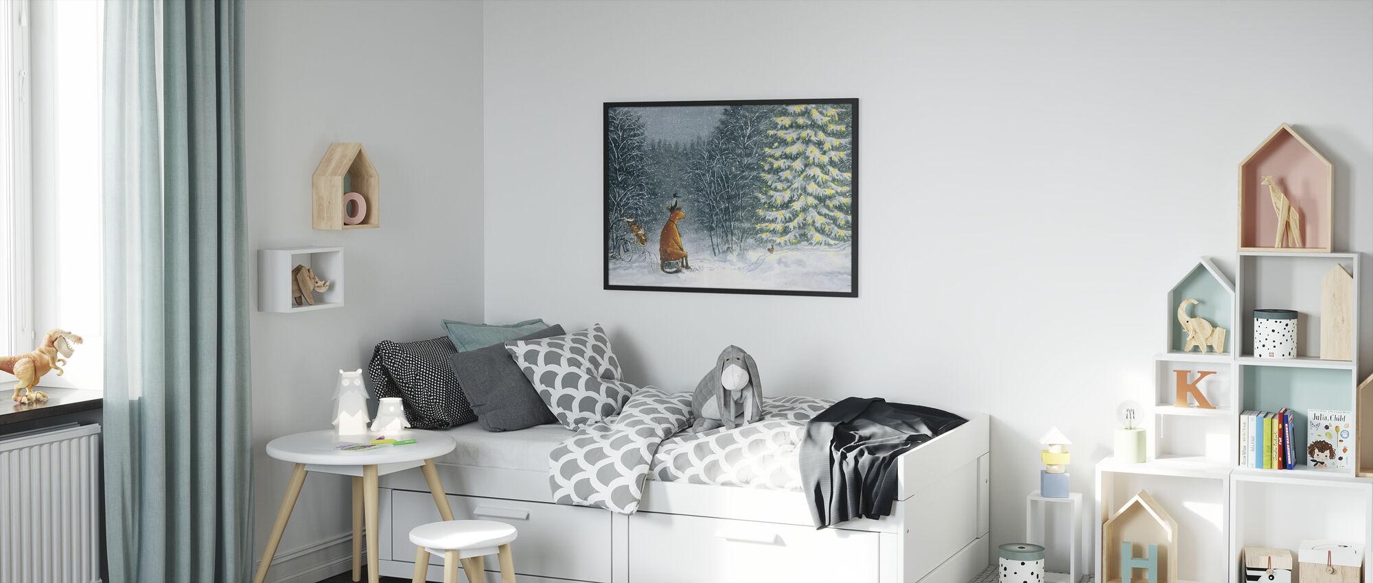 Mom Mu & Crow - Mom Mu & Crow Christmas - Framed print - Kids Room