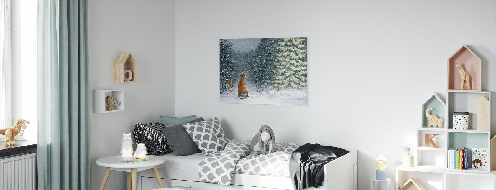 Mamma Mu & Kråkan - Mamma Mu & Kråkans jul - Canvastavla - Barnrum