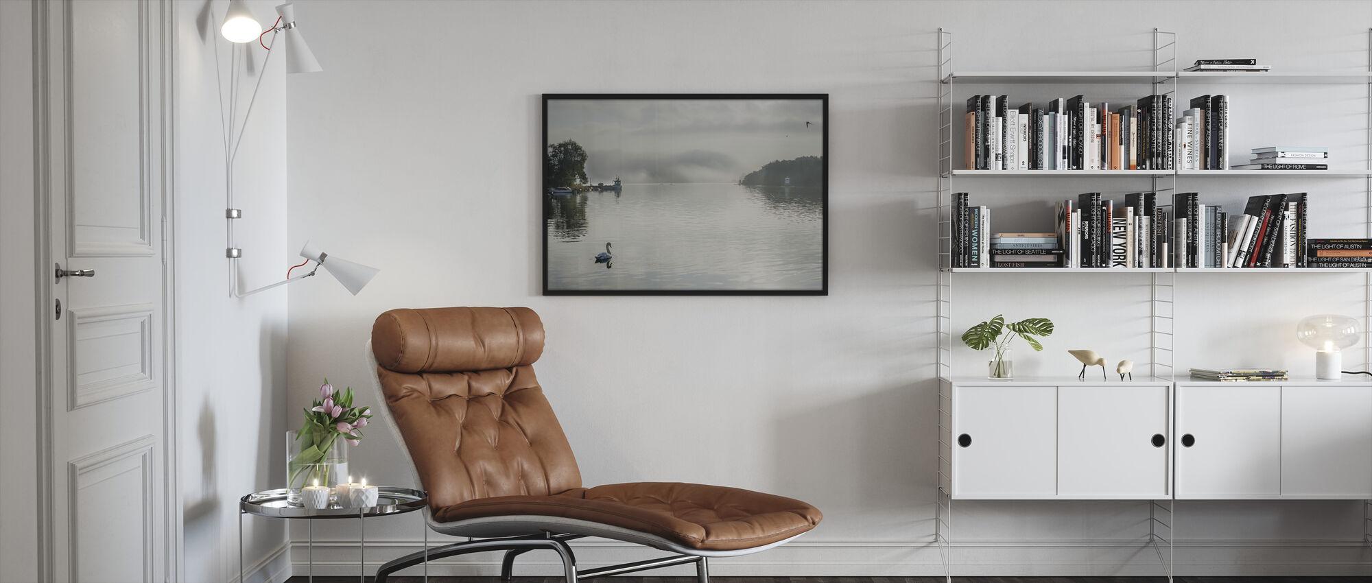 Mute Swan - Framed print - Living Room