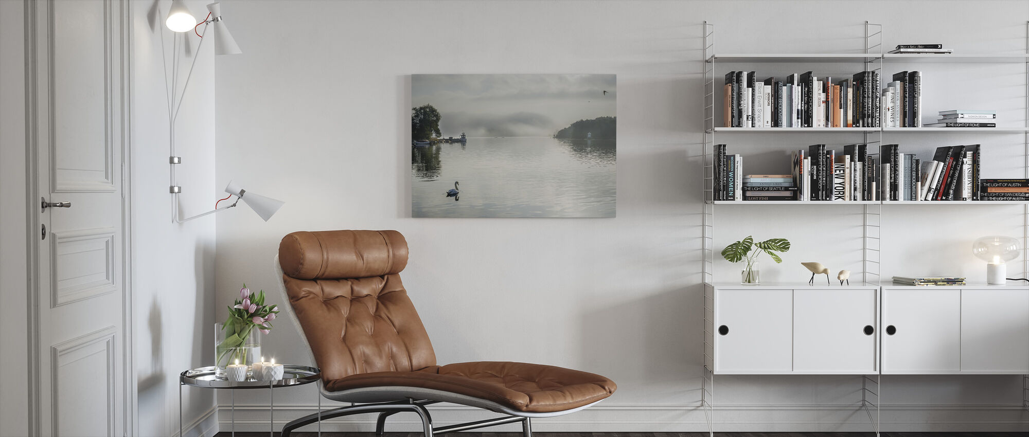 Mute Swan - Canvas print - Living Room