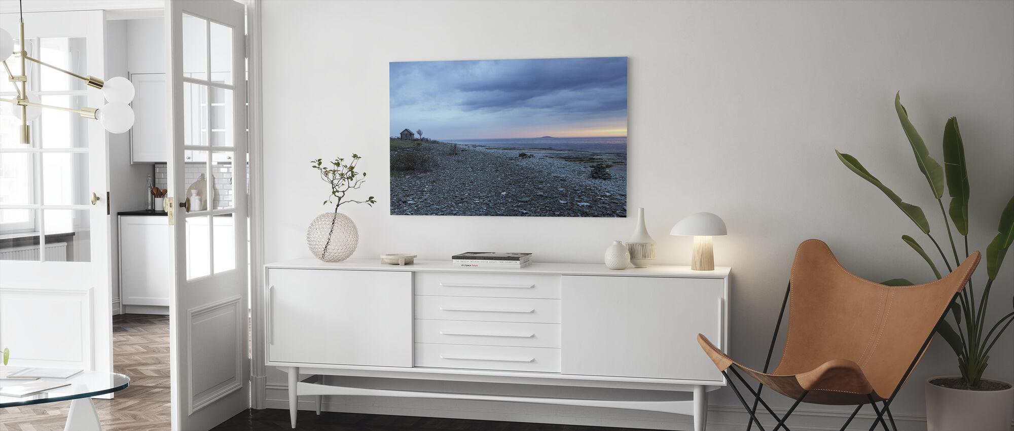 Strand Kustlijn - Canvas print - Woonkamer