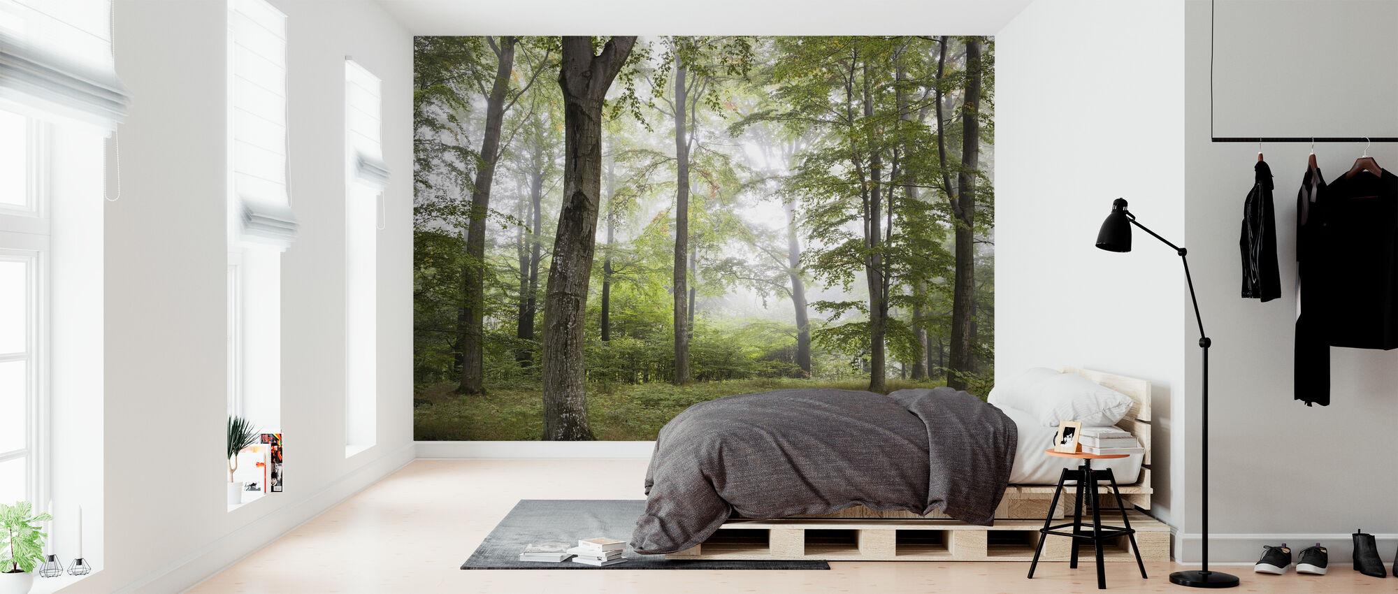 Metsä sumu - Tapetti - Makuuhuone
