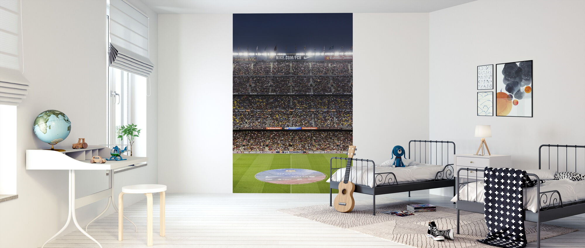 Soccer Stadium - Wallpaper - Kids Room