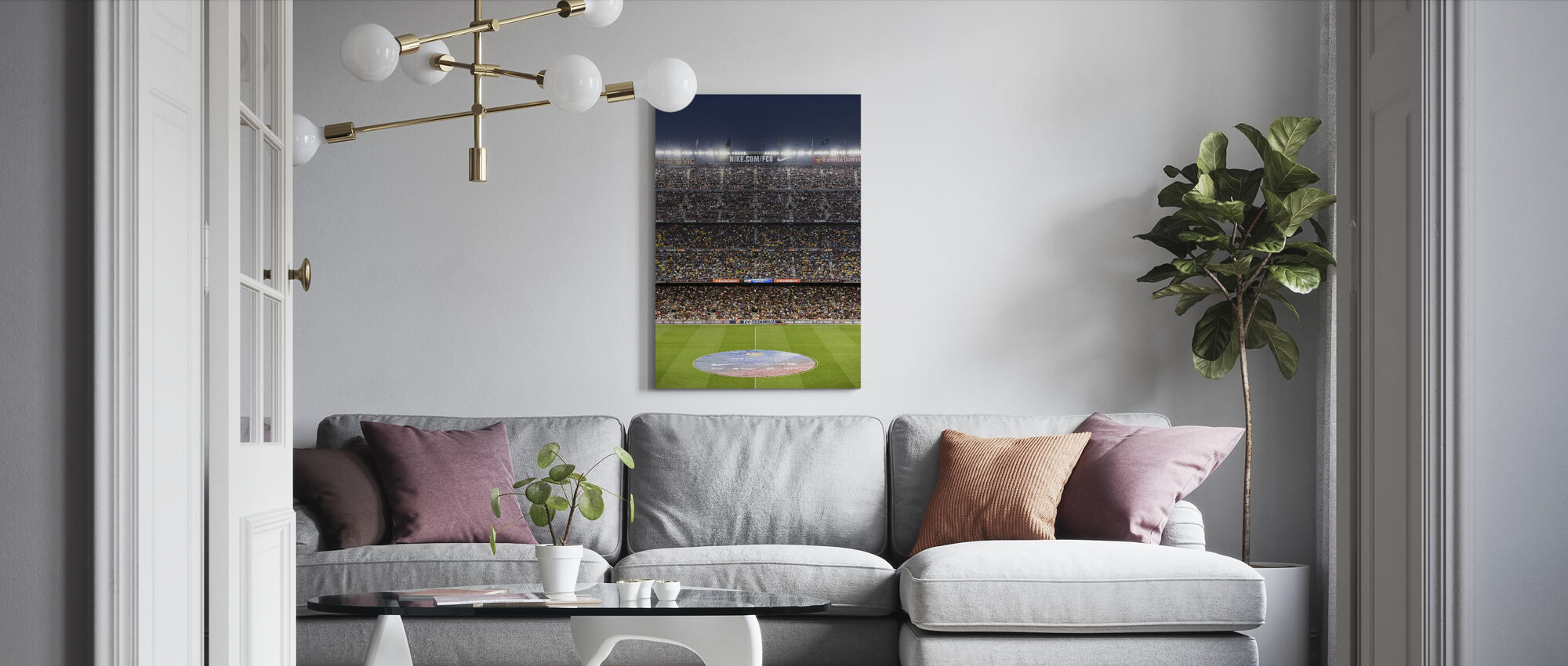 Soccer Stadium - Canvas print - Living Room