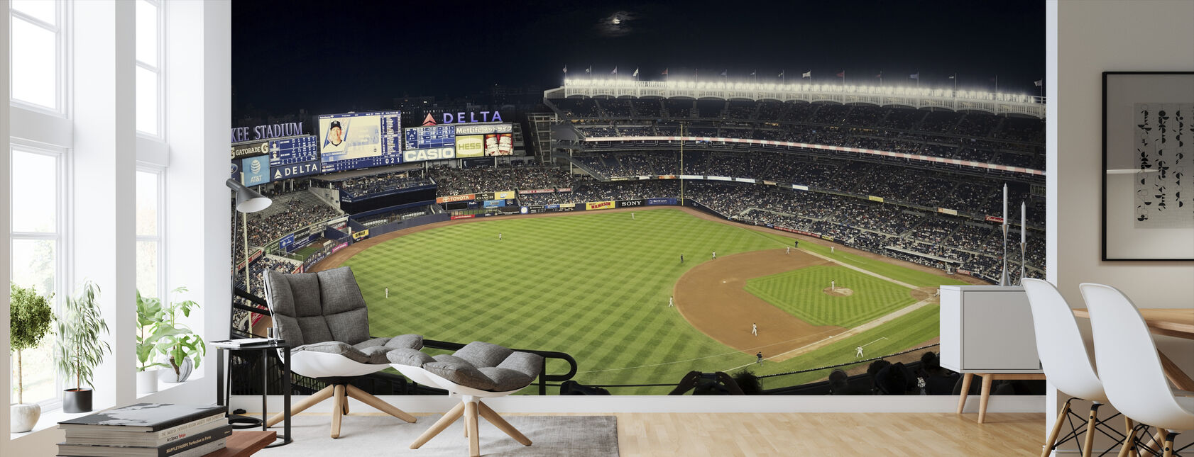 New York Yankees - Wallpaper - Living Room