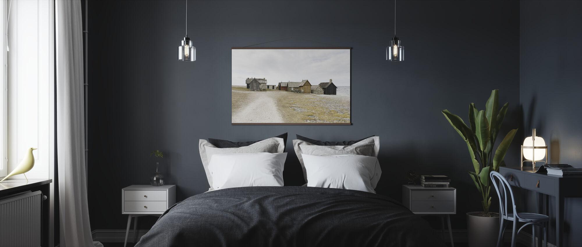 Coastline Fishing Huts - Poster - Bedroom