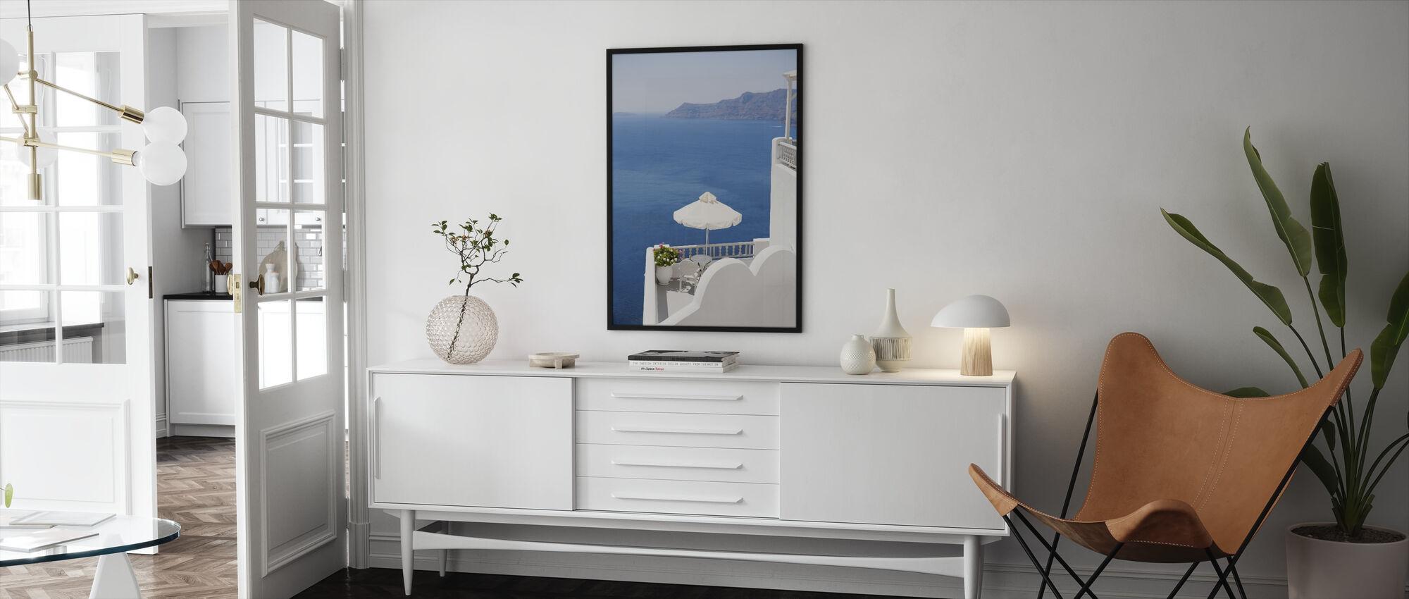 Santorini Sea - Framed print - Living Room