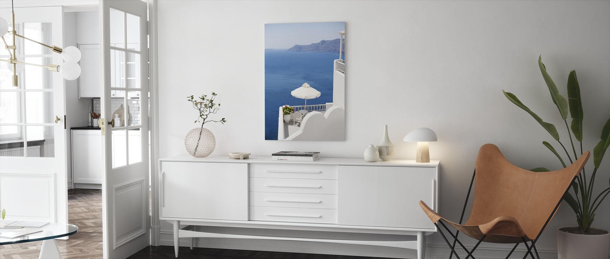 Santorini Sea - Canvas print - Living Room