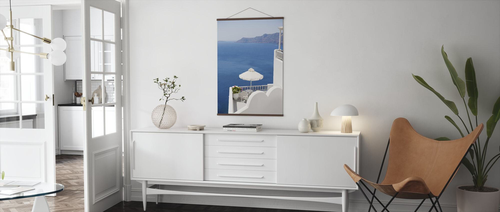Santorini Sea - Poster - Living Room