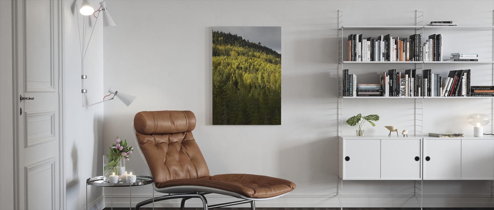 Skog och berg - Canvastavla - Vardagsrum