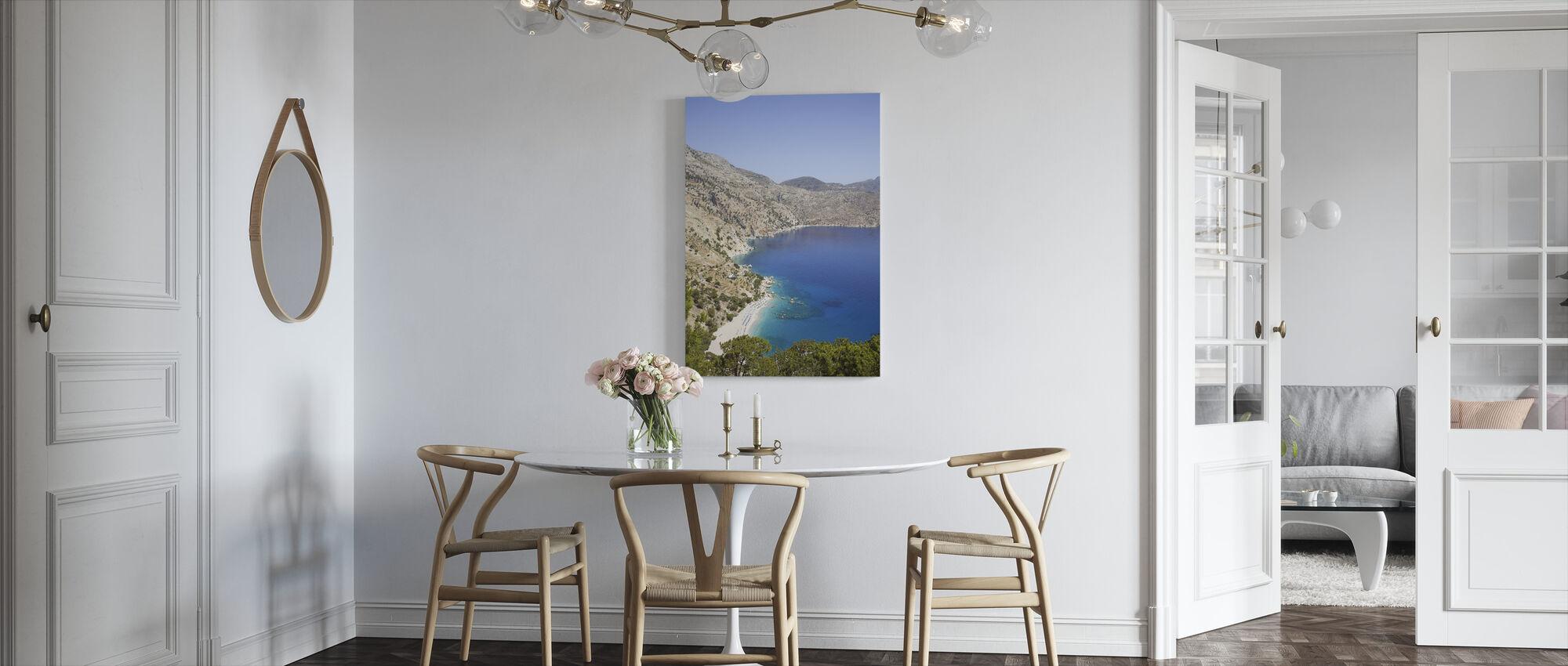 Karpathos fjellutsikt - Lerretsbilde - Kjøkken