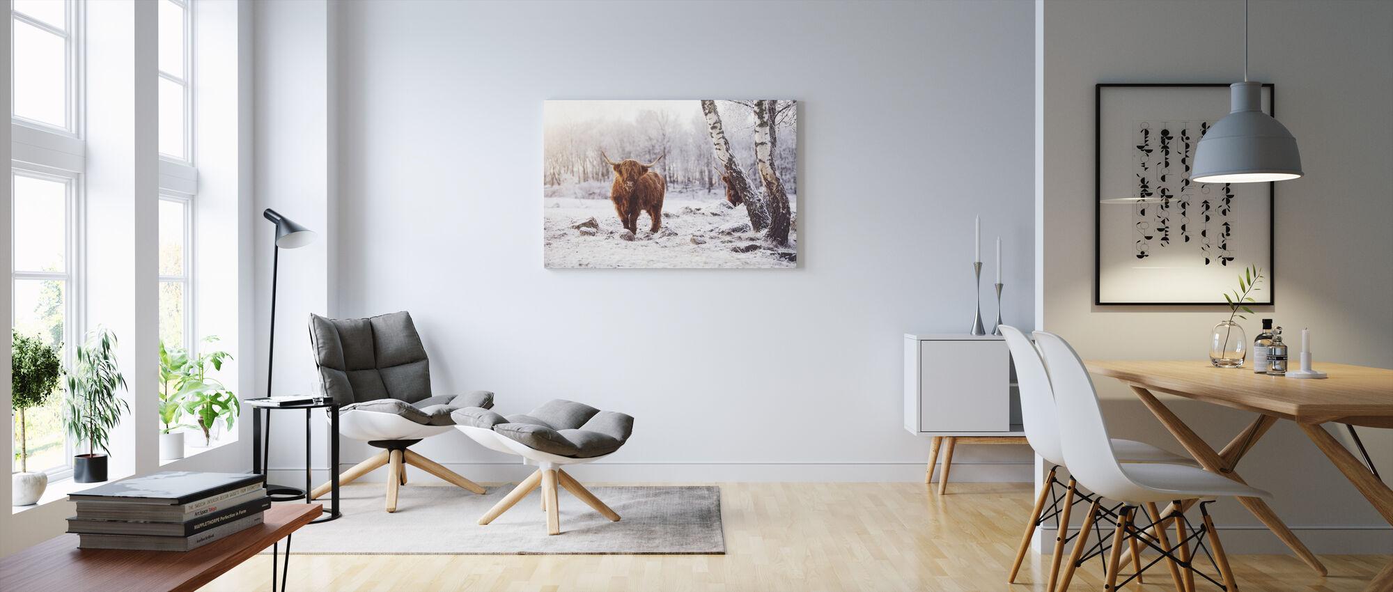 Highland Karja - Canvastaulu - Olohuone