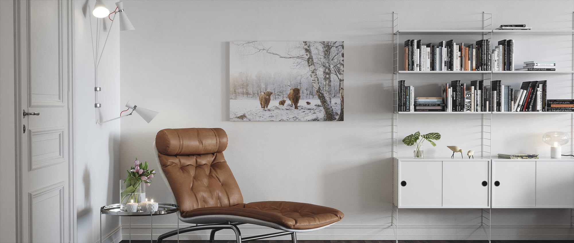 Cattles in Snow - Canvas print - Living Room