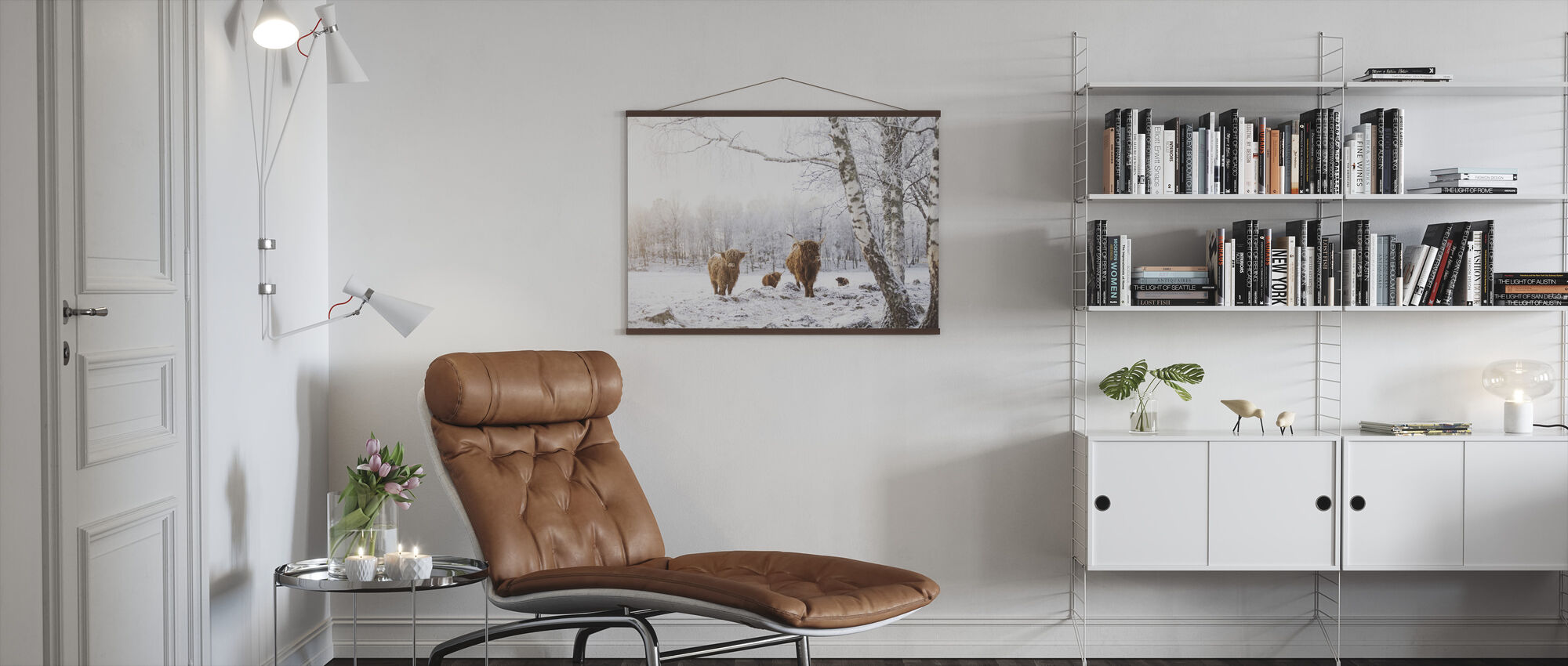 Cattles in Snow - Poster - Living Room