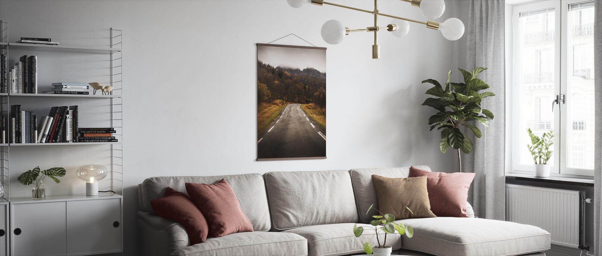 Senja Rural Road - Plakat - Stue