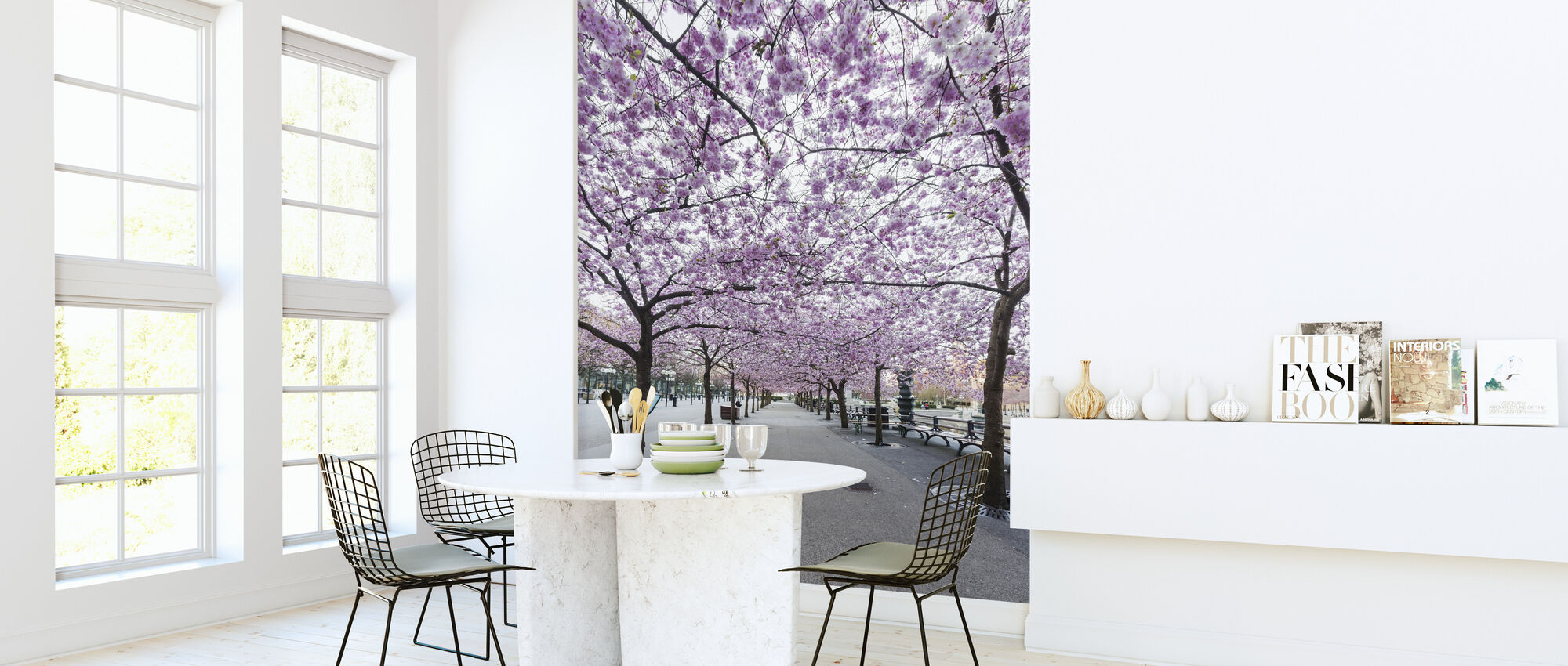 Cherry Tree Blossoms - Wallpaper - Kitchen