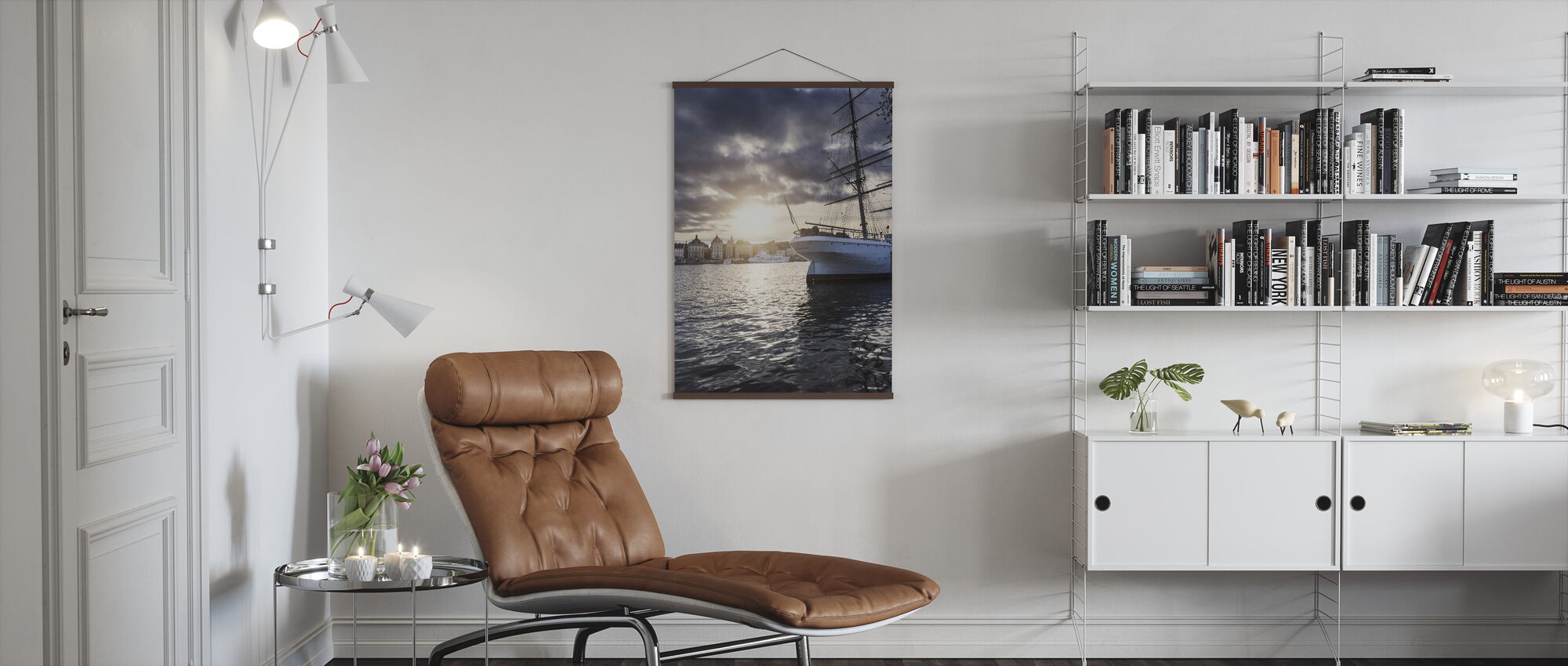 Sunset Sailboat - Poster - Living Room