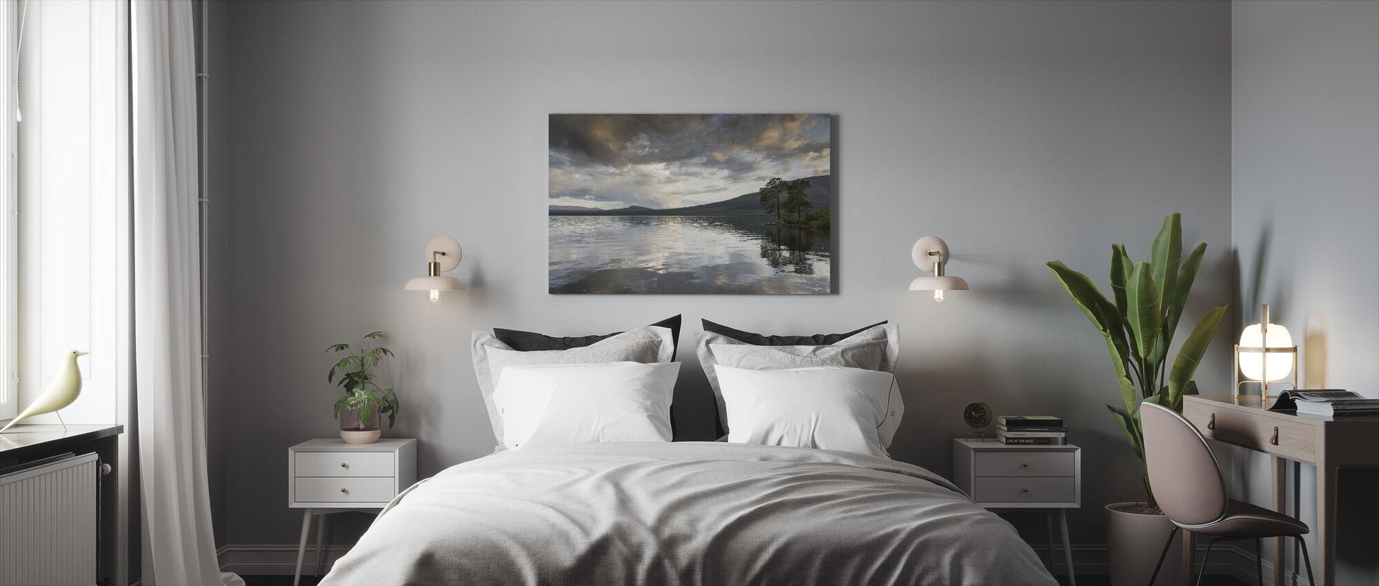 Jamtland Lake - Billede på lærred - Soveværelse
