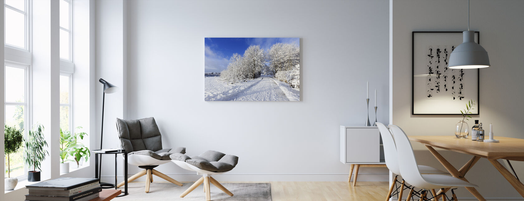 Uppland Road - Canvas print - Living Room