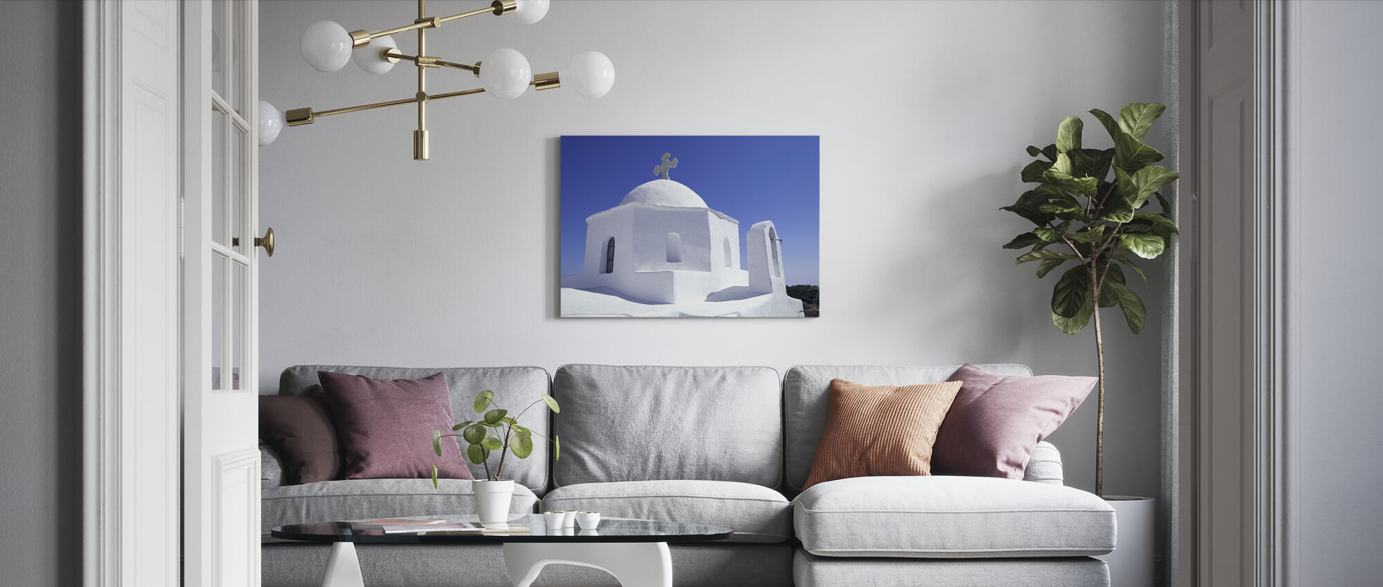 Greece Building - Canvas print - Living Room