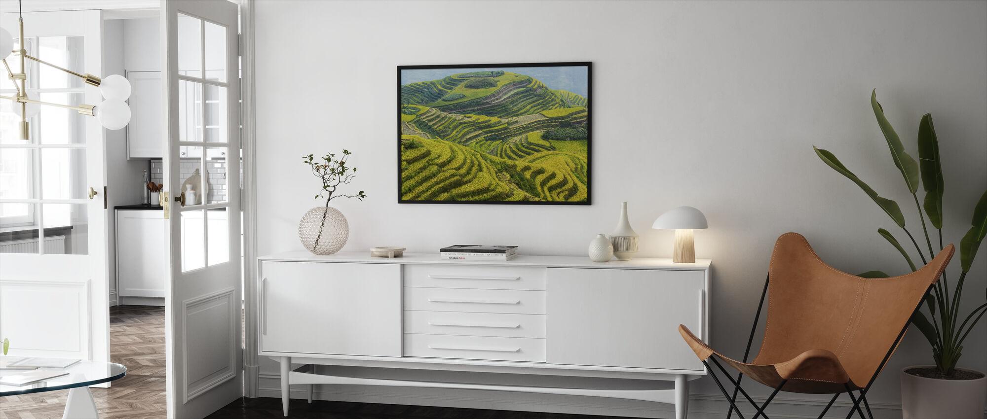 Guilin Fields - Framed print - Living Room