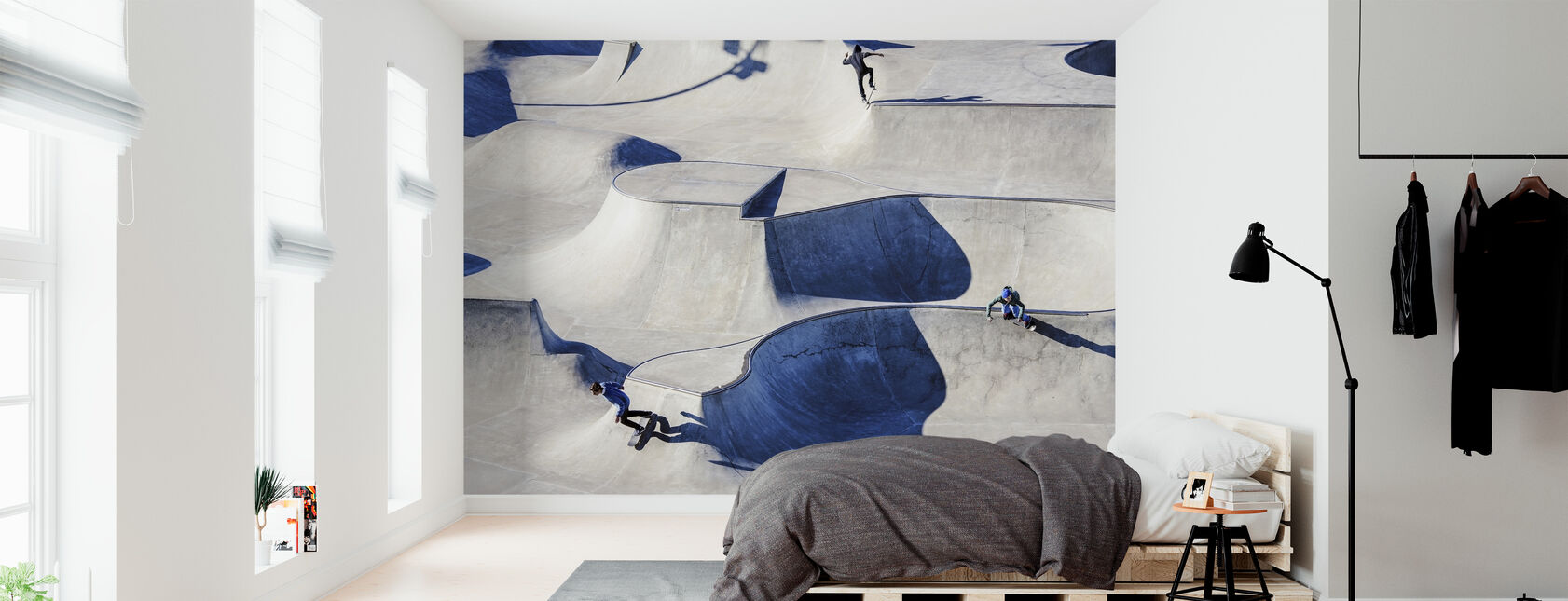 Skateboarding in Park - Wallpaper - Bedroom