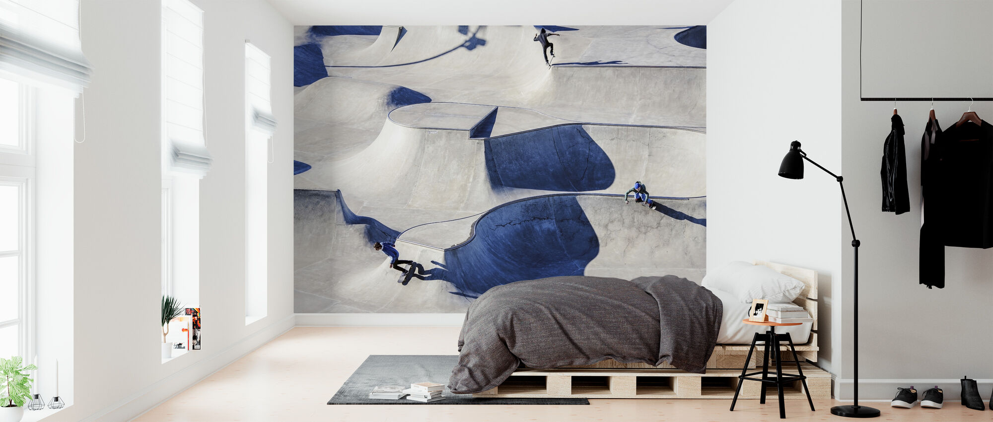 Skateboarding in Park - Wallpaper - Bedroom