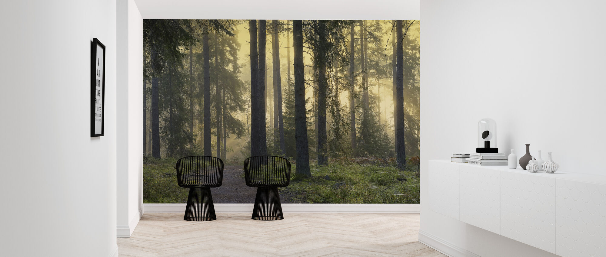 Forest Footpath - Wallpaper - Hallway
