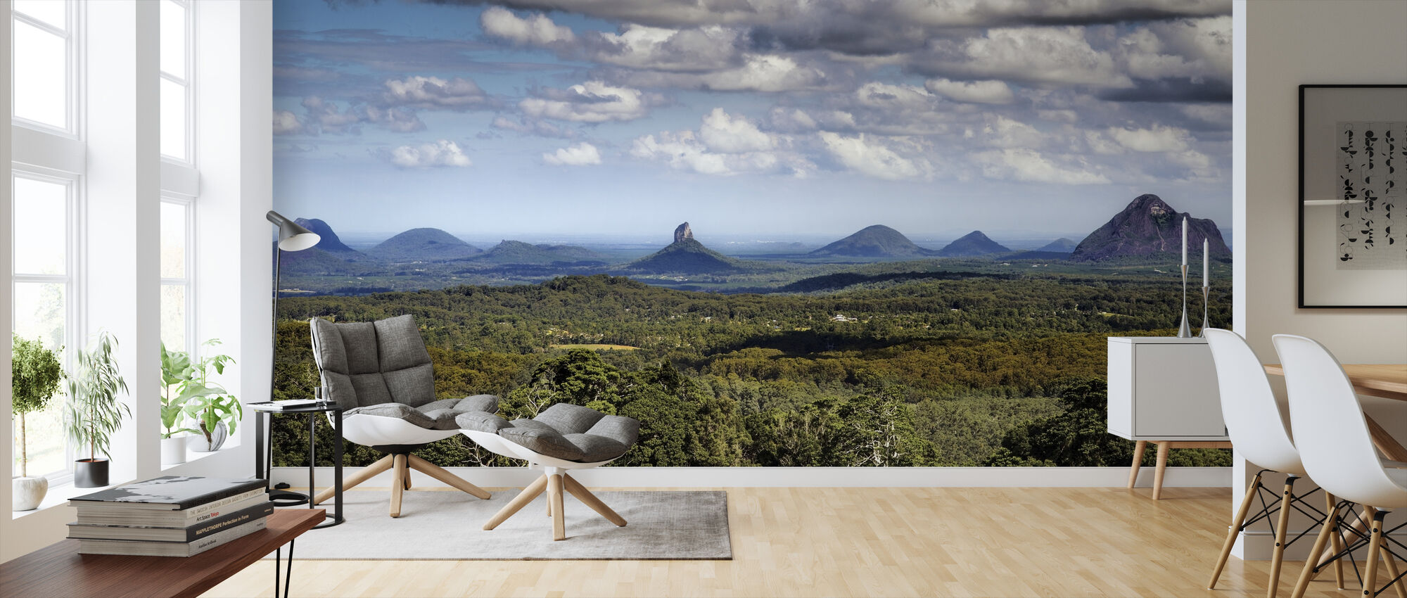 Glasshouse Mountains - Wallpaper - Living Room