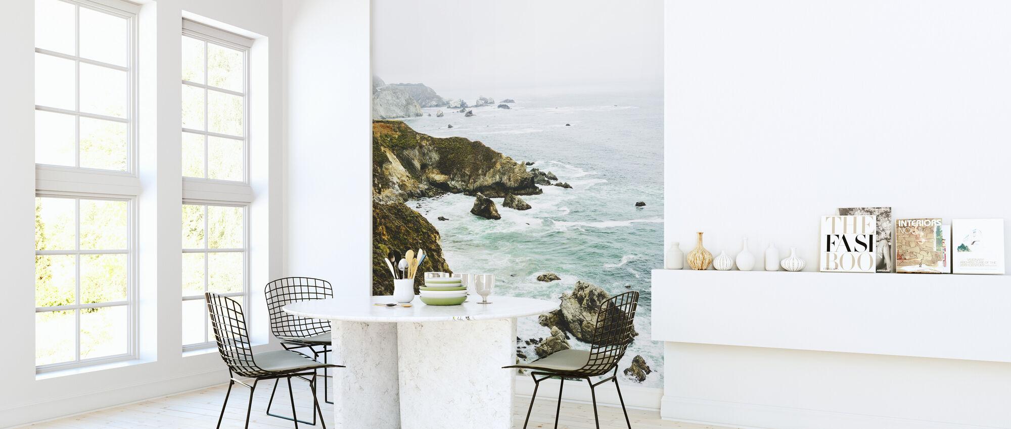 Rock Coastline - Wallpaper - Kitchen
