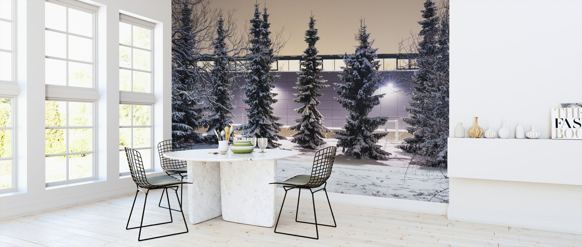 Trees and Snow - Wallpaper - Kitchen
