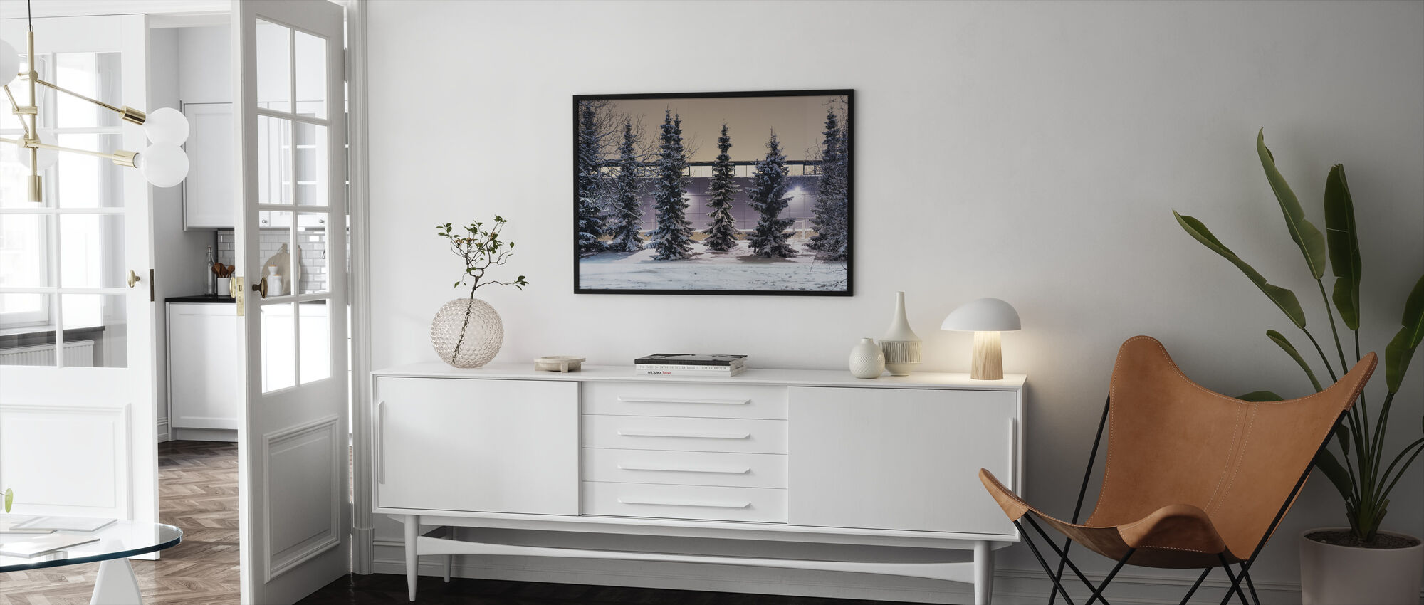 Trees and Snow - Framed print - Living Room