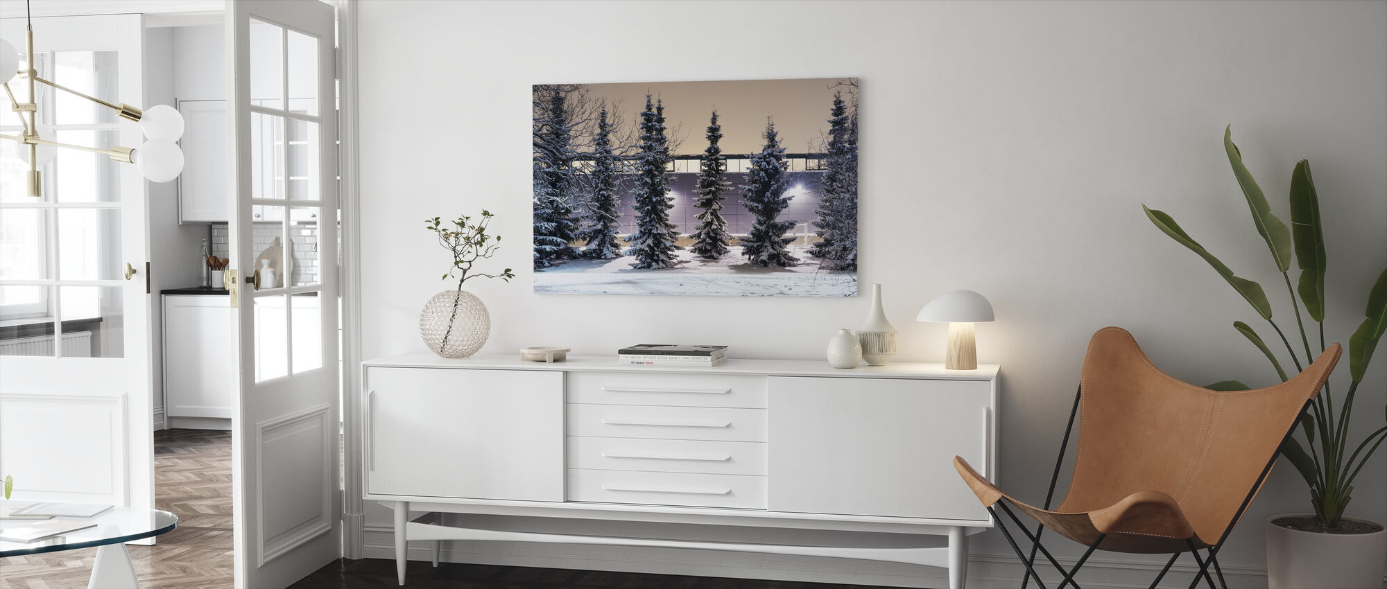 Trees and Snow - Canvas print - Living Room