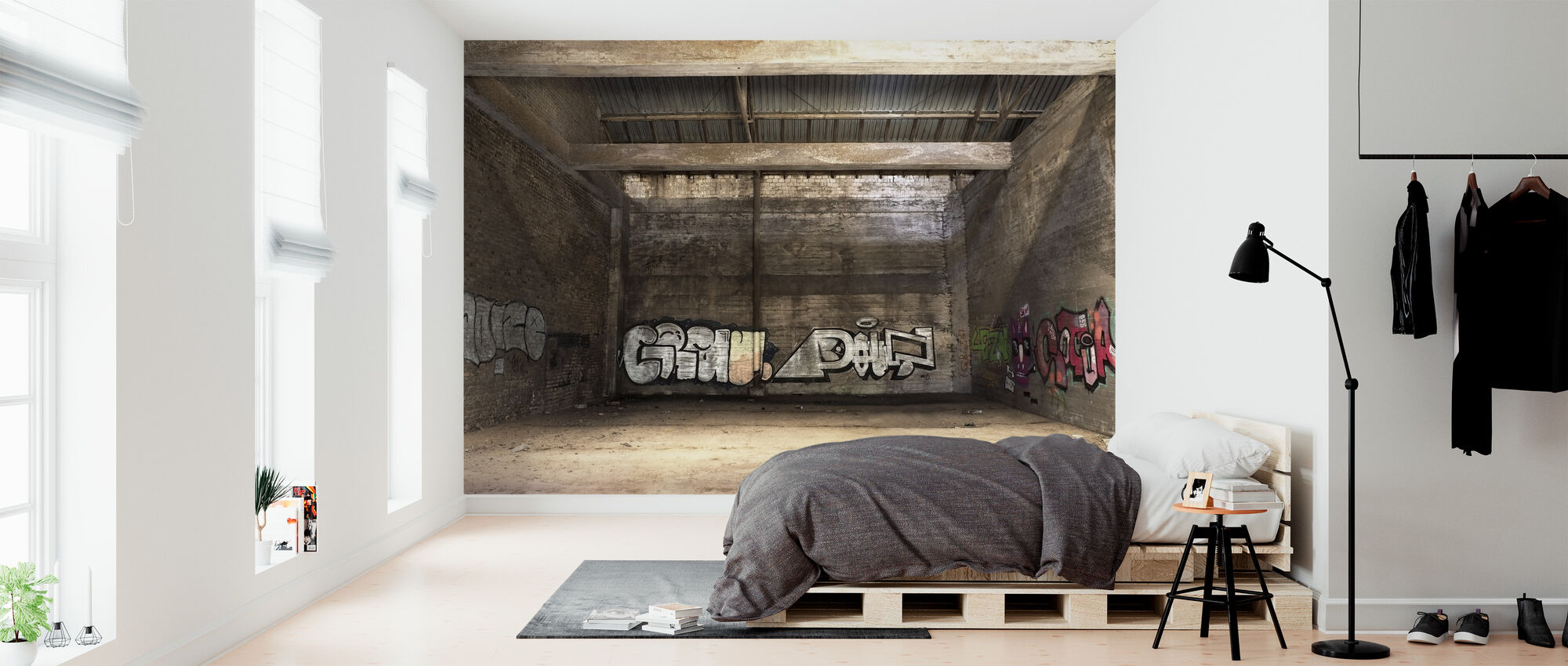 Old Warehouse - Wallpaper - Bedroom