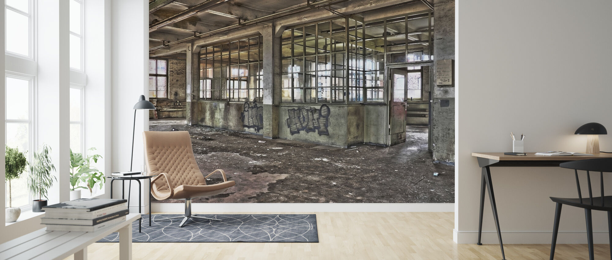 Old Factory - Wallpaper - Living Room