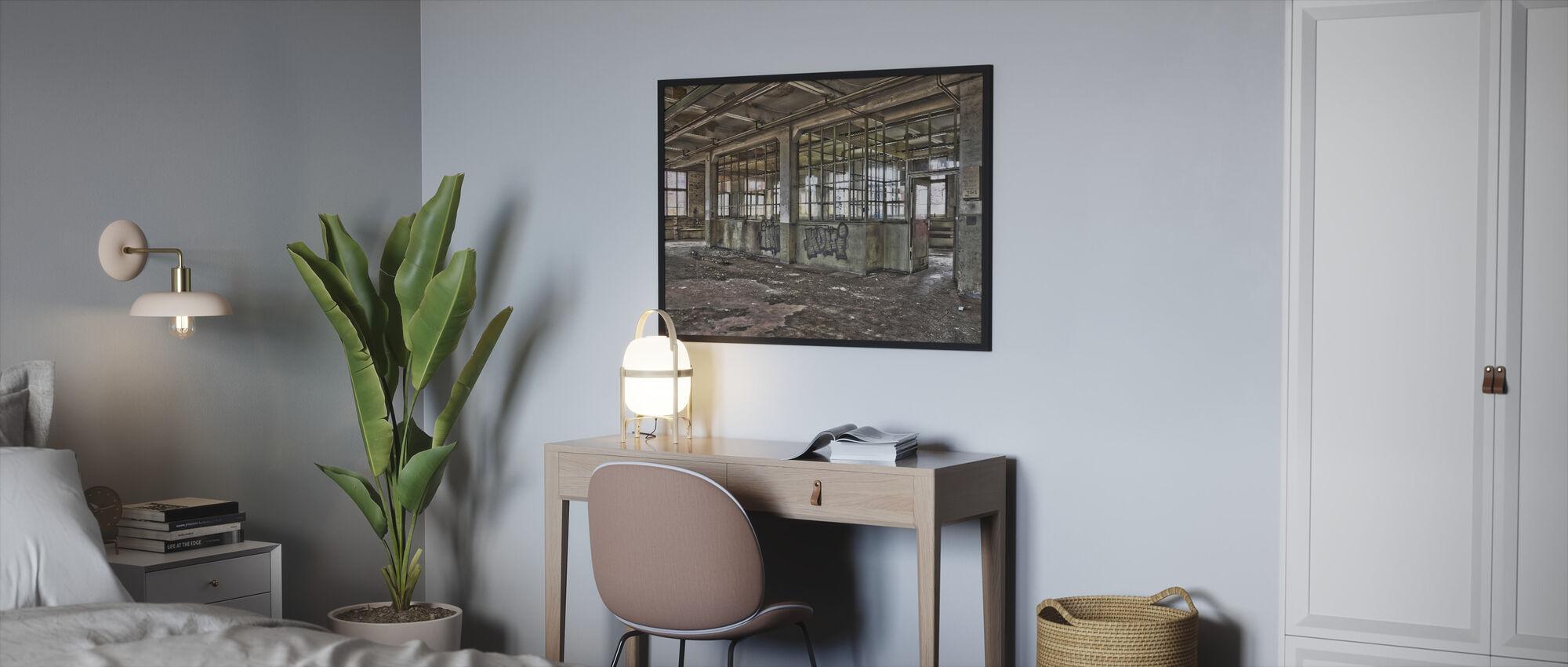Old Factory - Framed print - Bedroom