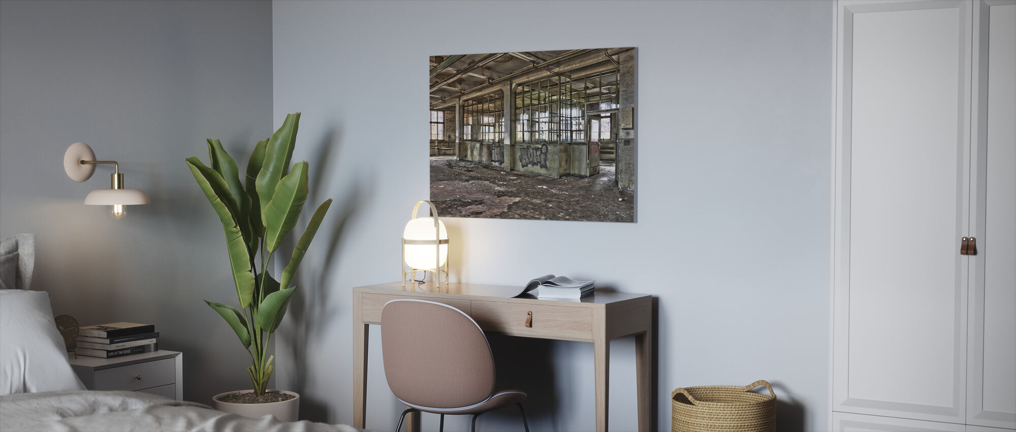 Old Factory - Canvas print - Office