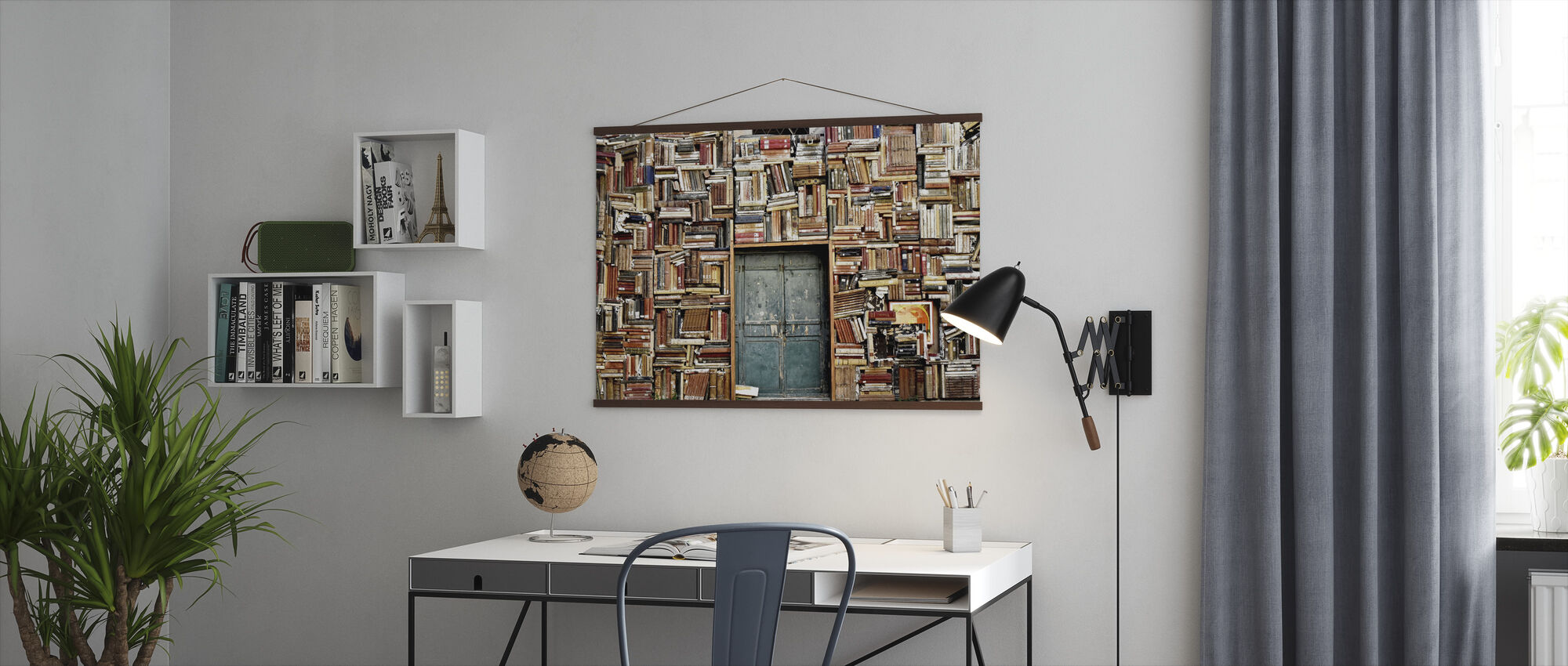 Door and Books - Poster - Office