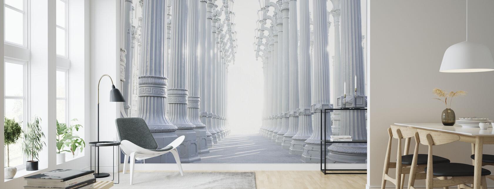Ancient Hallway Columns - Wallpaper - Living Room