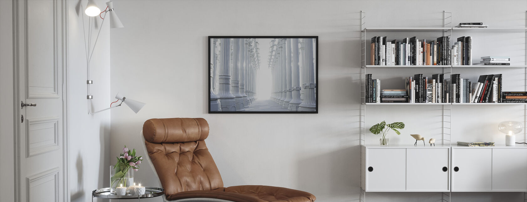 Ancient Hallway Columns - Framed print - Living Room