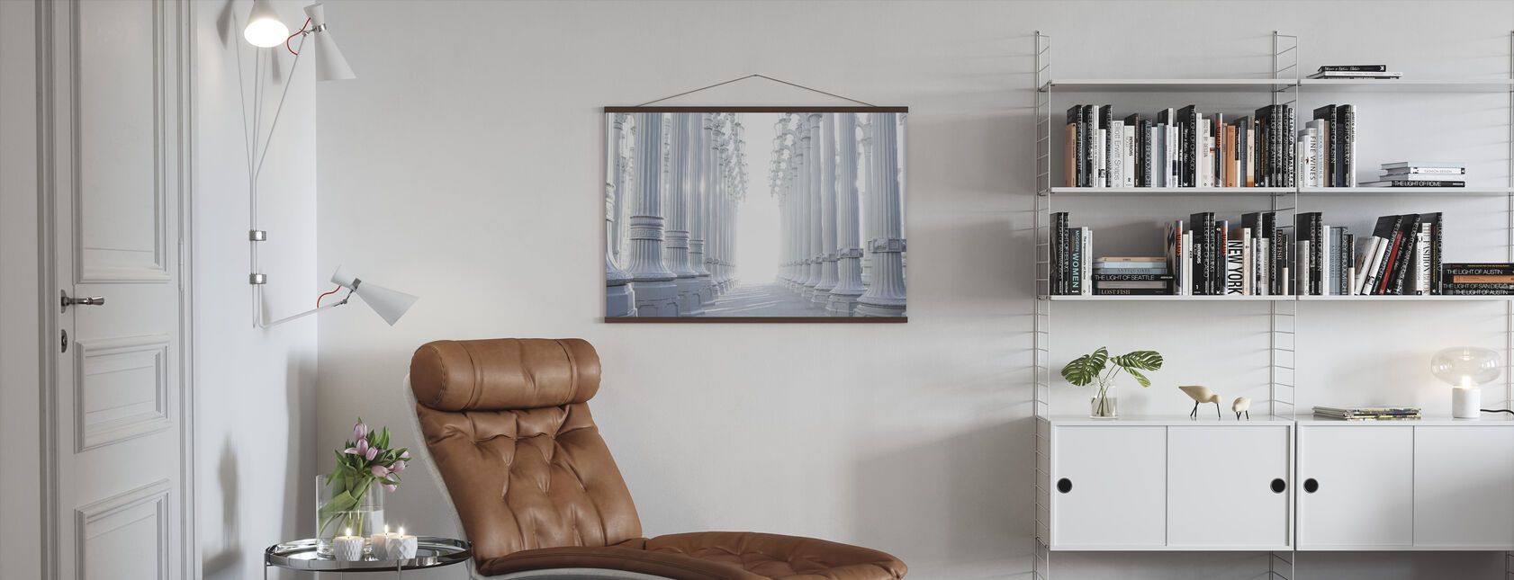 Ancient Hallway Columns - Poster - Living Room