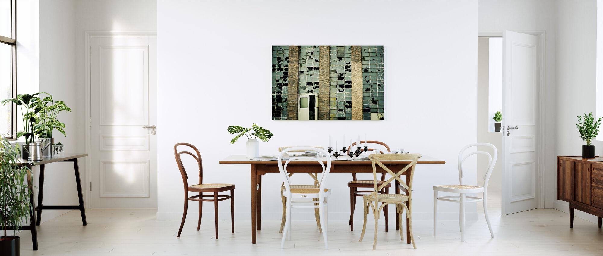 Broken Factory Glasses - Canvas print - Kitchen
