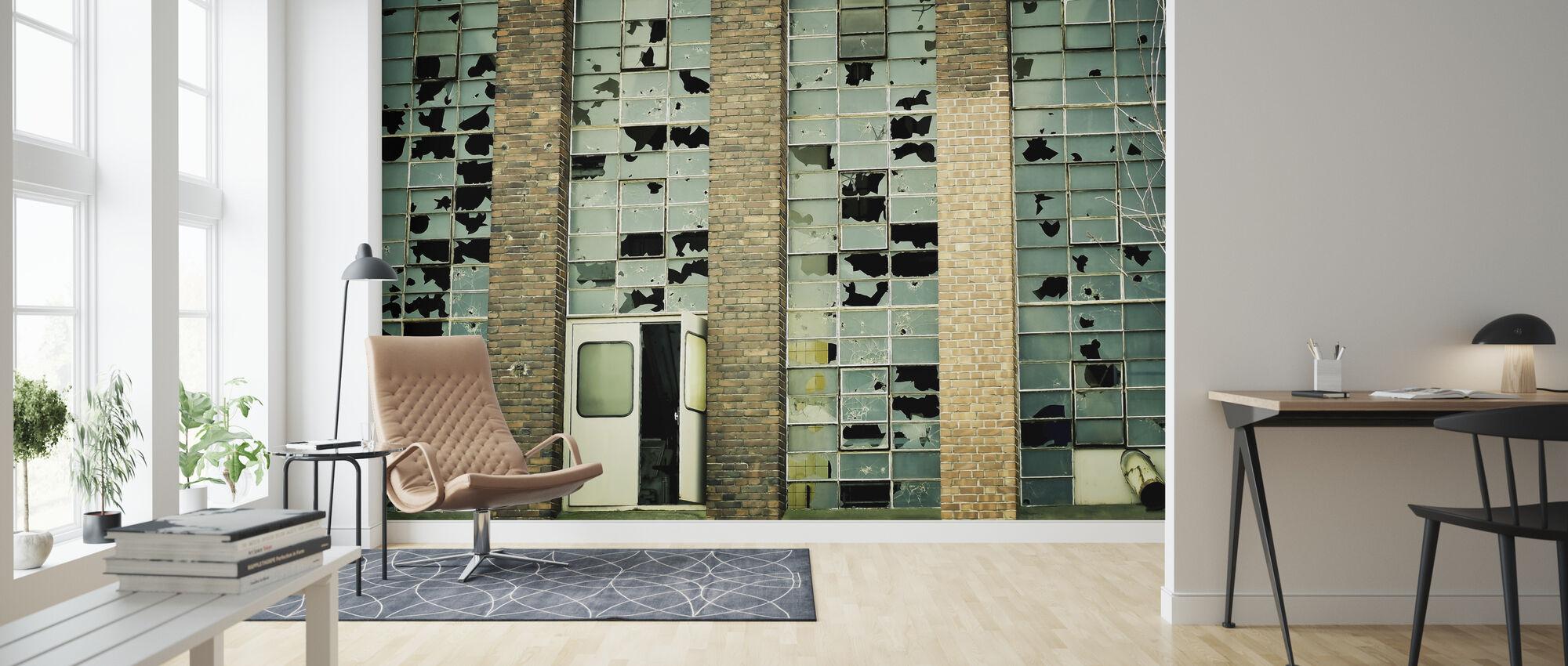 Broken Factory Glasses - Wallpaper - Living Room