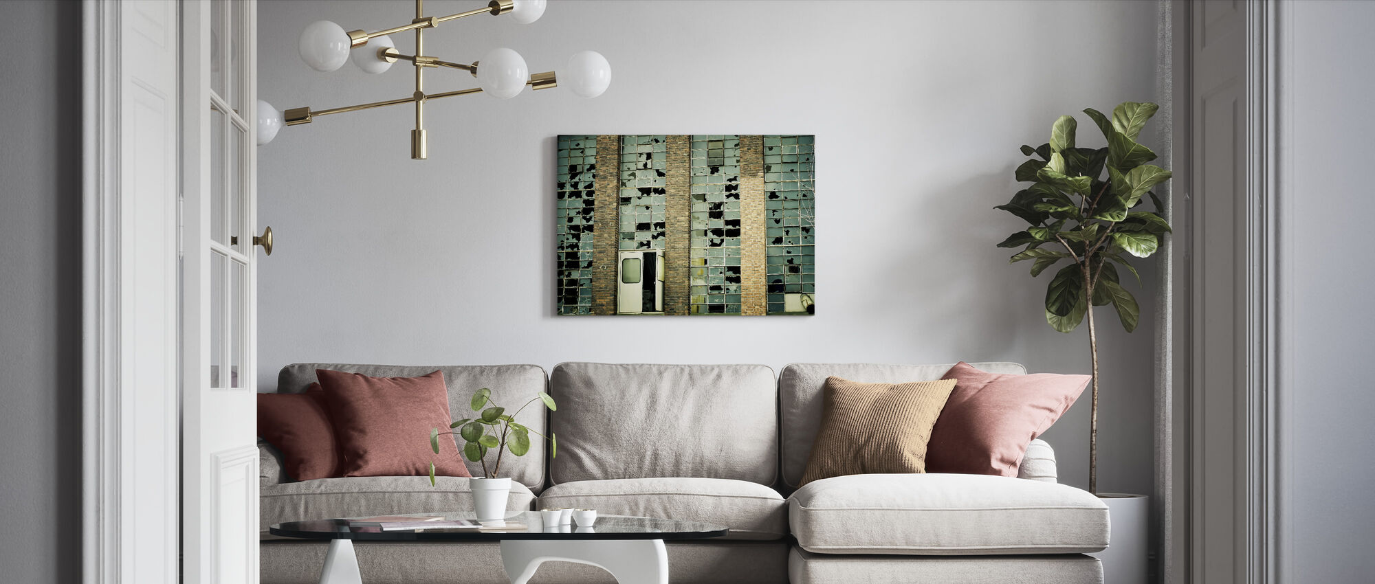 Broken Factory Glasses - Canvas print - Living Room